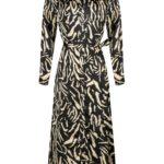 MAXI DRESS PHILIPPA - BLACK TIGER PRINT
