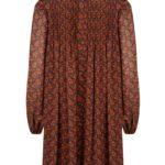 DRESS CELINE  - BROWN/ORANGE