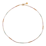 RAINBOW PEARL NECKLACE GOLD CHOKER
