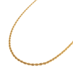 Twisted rope necklace gold