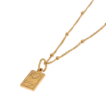 DOUBLE ROUND GOLD NECKLACE