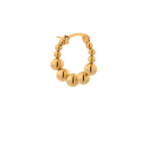 SINGLE IRIS HOOP GOLD