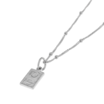 DOUBLE ROUND SILVER NECKLACE