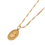 OVAL NECKLACE GOLD NECKLACE