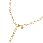 Hold on necklace gold