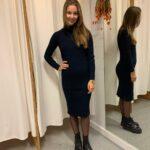JOYE ERICA LS DRESS - SKY CAPTAIN