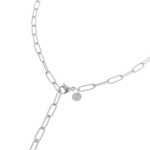 Hold on necklace silver