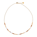 PASTEL BEADS NECKLACE SILVER CHOKER
