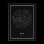 STARS - BLACK A4 WIJCK