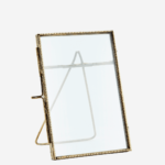 STANDING PHOTO FRAME ANT. BRASS 10X15