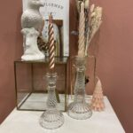 HV CANDLEHOLDER CLEAR GLASS  SMALL 9x18CM