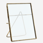 STANDING PHOTO FRAME ANT. BRASS 13X18