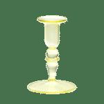 LEMONADE YELLOW GLASS CANDLE HOLDER