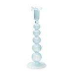 CLOUDY GLASS CANDLE HOLDER 29 CM